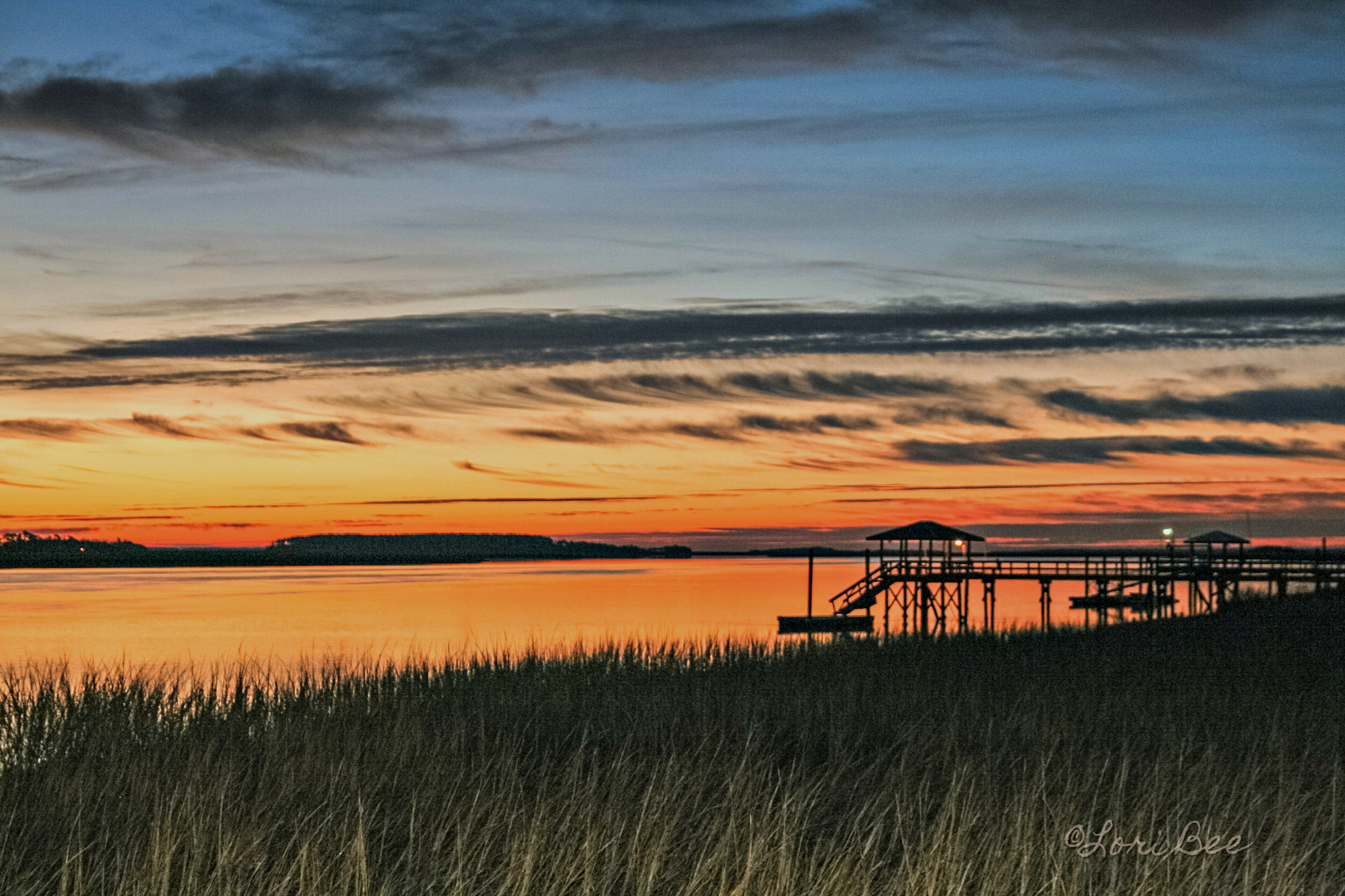 Chechessee River Sunrise by Lori Bee