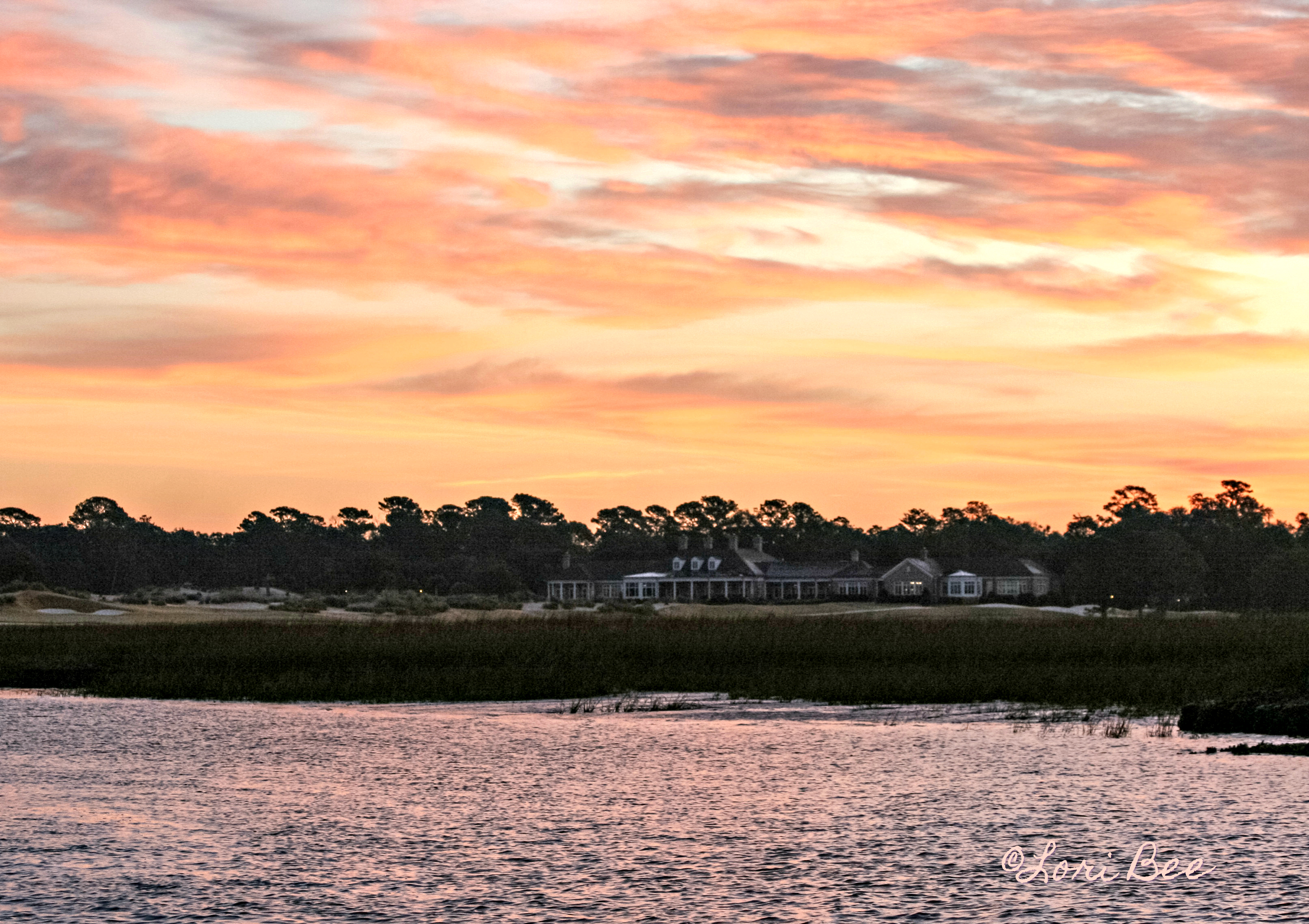 Colorful Colleton River Sunrise by Lori Bee