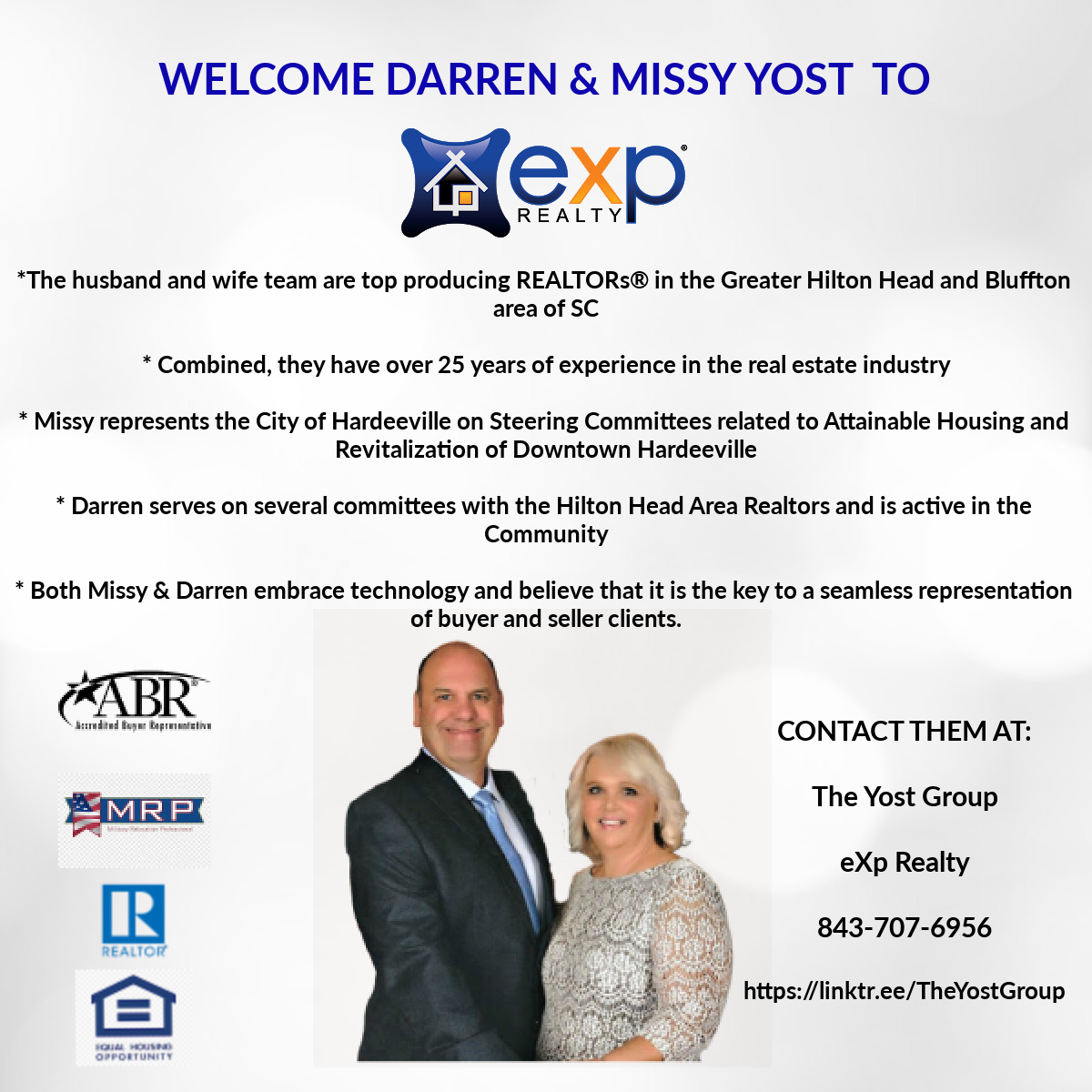 Welcome Darren and Missy Yost to eXp Realty